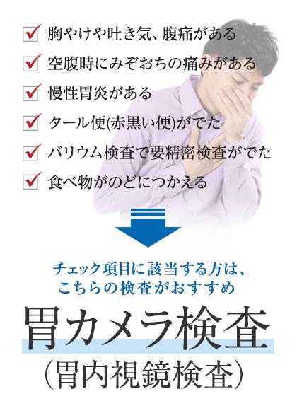胃カメラ検査(胃内視鏡検査)
